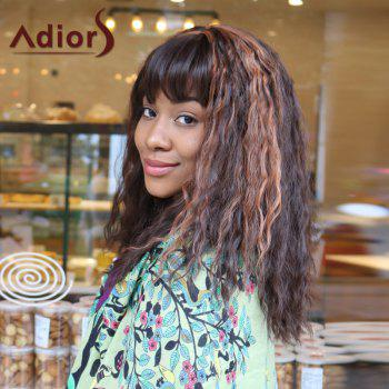 Adiors Long Full Bang Wavy Highlight Corn Hot Synthetic Wig