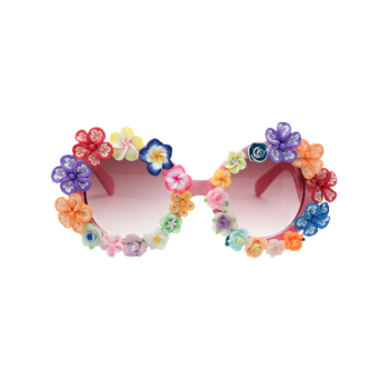 Beach Travel Sunglasses with Flower