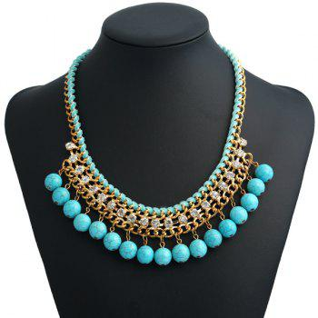 Artificial Turquoise Bohemian Beads Necklace