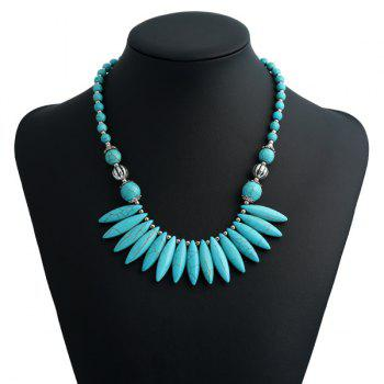 Artificial Turquoise Bohemian Beaded Necklace