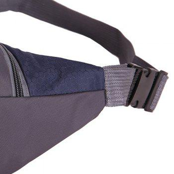 Multifunctional Nylon Waist Bag -  PURPLISH BLUE