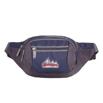 Multifunctional Nylon Waist Bag - PURPLISH BLUE PURPLISH BLUE