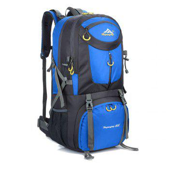 60L Waterproof Mountaineering Backpack - BLUE