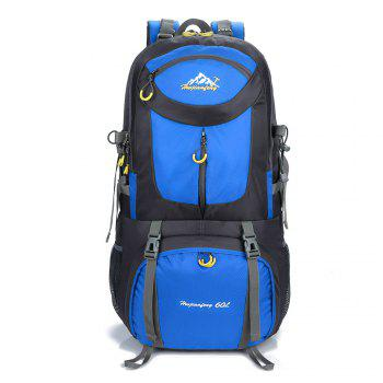 60L Waterproof Mountaineering Backpack - BLUE BLUE