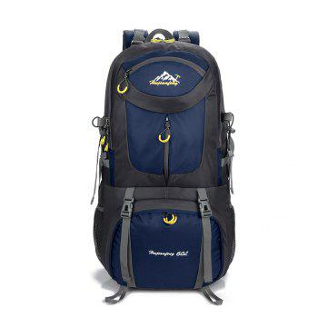 60L Waterproof Mountaineering Backpack - CERULEAN CERULEAN