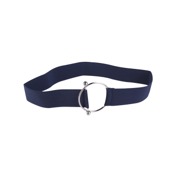 Round Metallic Buckle Elastic Belt
