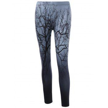 Tree Print Fitted Leggings