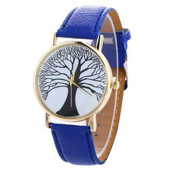 Faux Leather Tree Of Life Watch