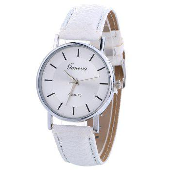 Analog Faux Leather Band Watch