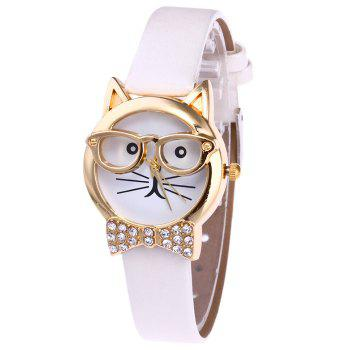 Cat With Glasses Analog Watch