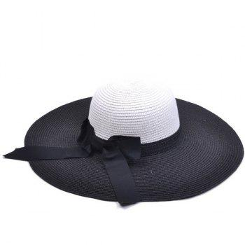 Bowknot Long Tail Straw Floppy Hat