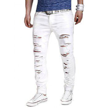 Slimming Narrow Feet Distressed Pants