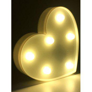 Confession Gift Love Heart Shaped LED Night Light