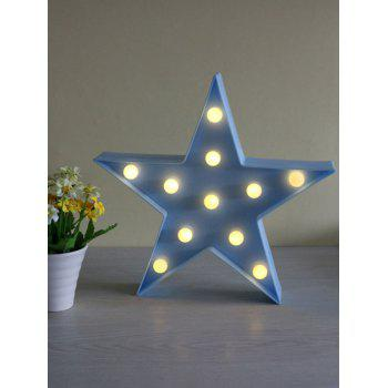 Star Shaped Home Decorative LED Night Light