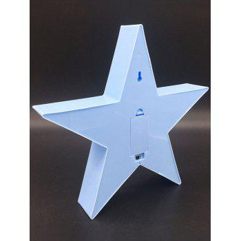 Star Shaped Home Decorative LED Night Light - BLUE