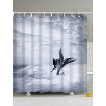 Fish Tail Eco-Friendly Water Resistant Shower Curtain