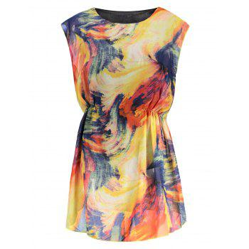 Mini Tie Dye Chiffon Dress