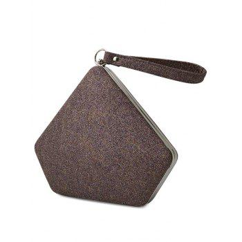 Glitter Sequin Geometric Evening Bag -  COFFEE