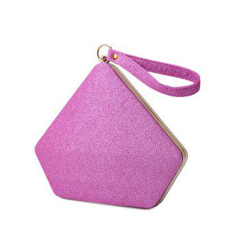 Glitter Sequin Geometric Evening Bag -  PINK
