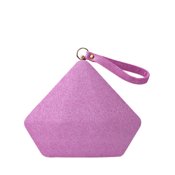 Glitter Sequin Geometric Evening Bag - PINK PINK