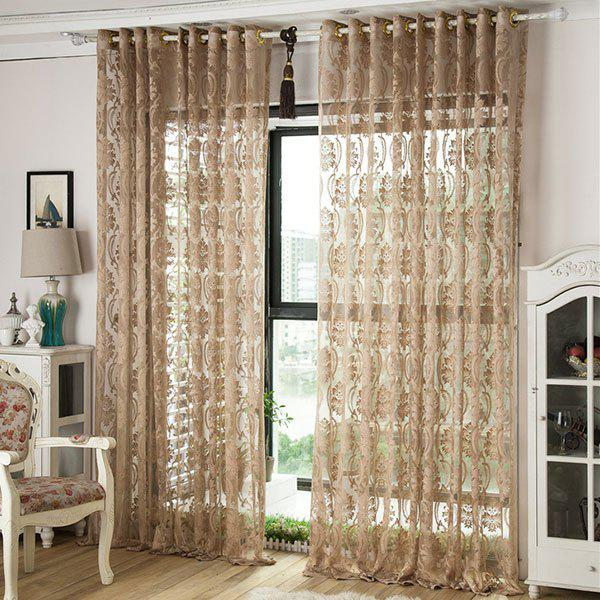 Europe Floral Sheer Voile Fabric Curtain For Living Room europe