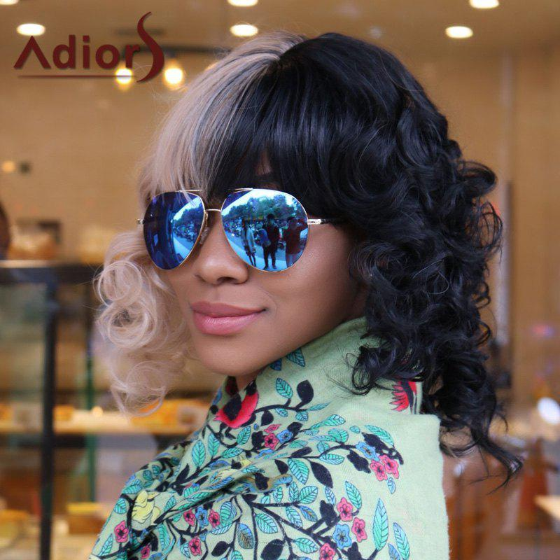 Adiors Medium Two Tone Panel Full Bang Curly Synthetic Cosplay Melanie Martinez Wig shipping hot new black white long curly cosplay full wig two pigtails