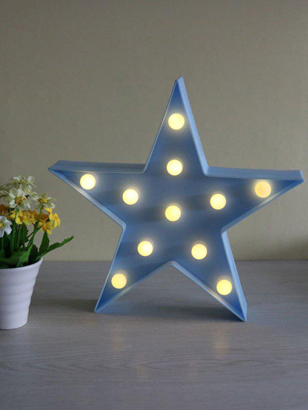Star Shaped Home Decorative LED Night Light 25cm magic dice waterproof led remote controll square cube lumineux light for home bar cafe house nightclub wedding decorative