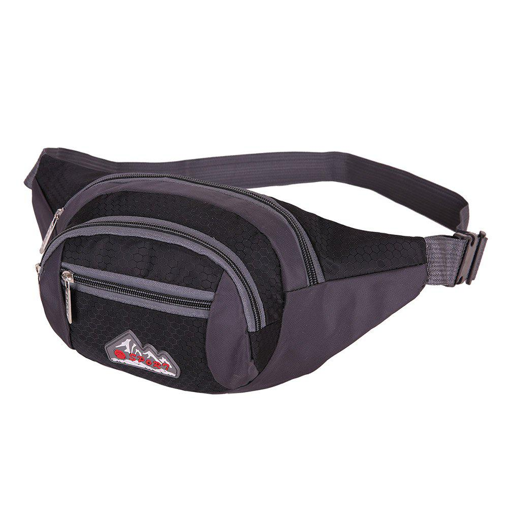 Multifunctional Nylon Waist Bag - BLACK