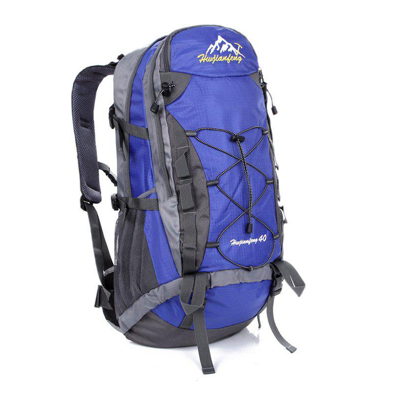 40L Nylon Mountaineering Backpack - BLUE