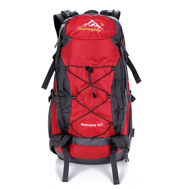 40L Nylon Mountaineering Backpack - RED