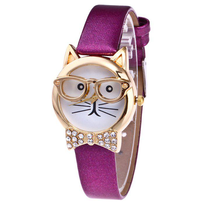 Cat With Glasses Analog Watch cat eye glasses tinize 2015 tr90 5832