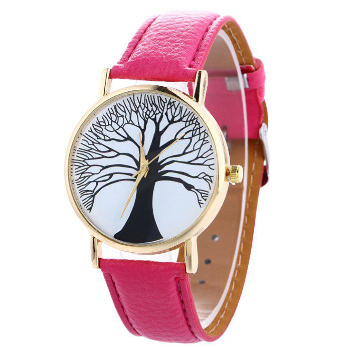 Faux Leather Tree Of Life Watch - TUTTI FRUTTI