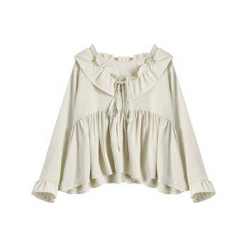 Ruffled Flare Sleeve Blouse