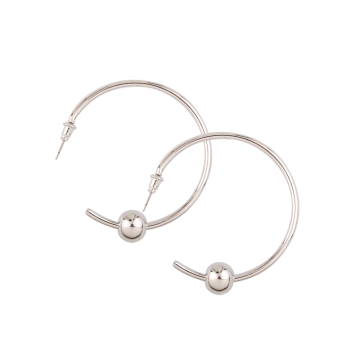 Alloy Beads Embellished Cuff Earrings