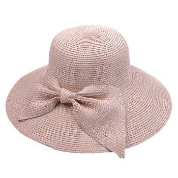 Large Bowknot Straw Bucket Hat