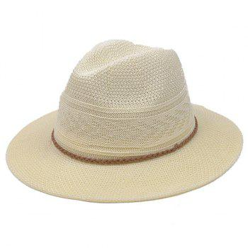 Braided Rope Breathable Straw Jazz Hat