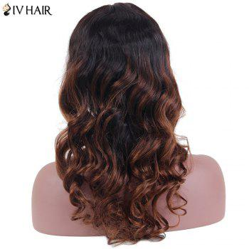 Siv Hair Long Wavy Centre Parting Lace Front Human Hair Wig - 22INCH 22INCH