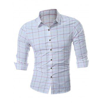 Long Sleeve Grid Shirt