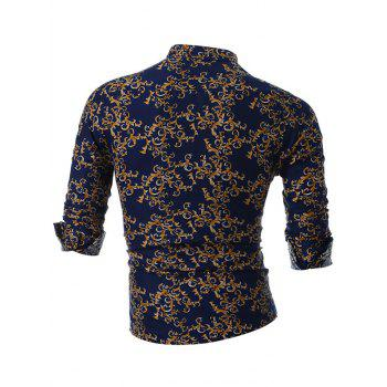 All Over Print Slim Fit Shirt - YELLOW YELLOW
