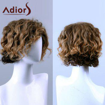 Adiors Hair Medium Curled Side Bang Capless Synthetic Wig