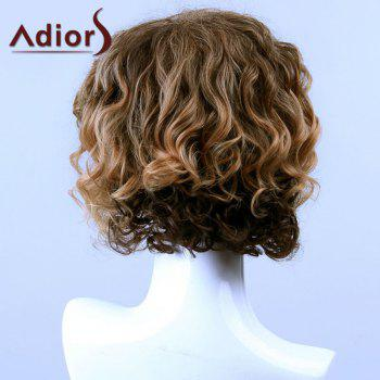 Adiors Hair Medium Curled Side Bang Capless Synthetic Wig -  COLORMIX