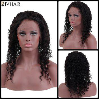 Siv Hair Long Curly Human Hair Lace Frontal Wig
