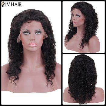 Siv Hair Long Curly Lace Frontal Human Hair Wig - NATURAL COLOR 20INCH