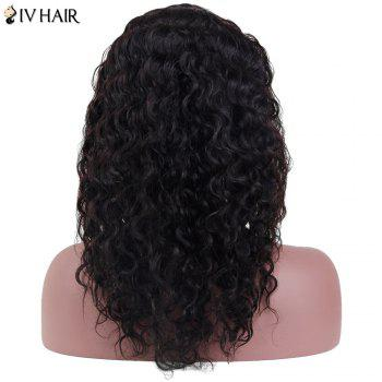 Siv Hair Long Curly Lace Frontal Human Hair Wig - NATURAL COLOR 14INCH