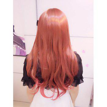 Harajuku Long Wavy Oblique Bang Cosplay Lolita Synthetic Wig -  RED