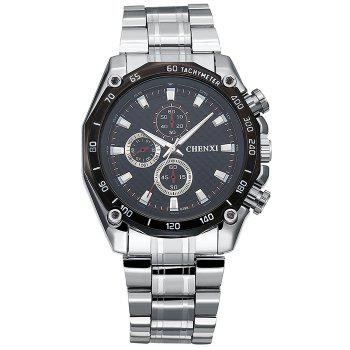 CHENXI Steel Strap Tachymeter Analog Watch