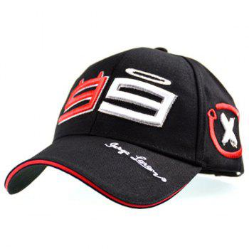 Graphic Number Embellished Baseball Cap