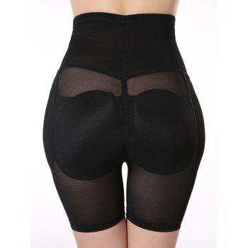 See-Through Padded Shorty taille haute - Noir XL