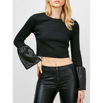 Trumpet Sleeve Cropped Top