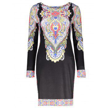 Ethnic Print Mini Bodycon Dress